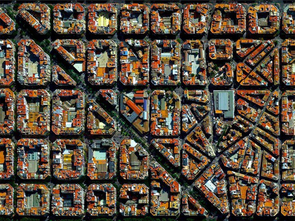 The district of Eixample in Valencia, Spain