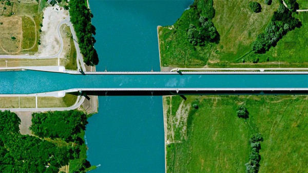 The Magdeburg water bridge, Germany