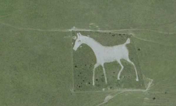 The white horse in Alton Barnes, 1812 year
