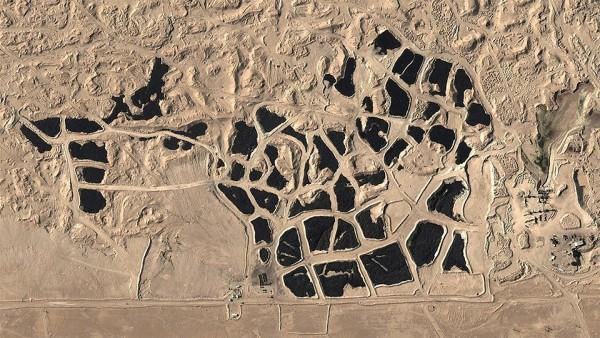 Dump of tires in Kuwait