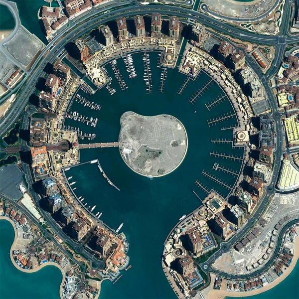 Artificial island the Pearl in Doha, Qatar