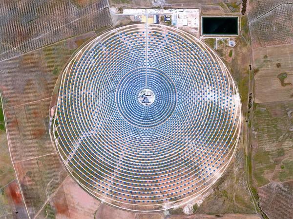 Solar power plant Gemasolar in Spain