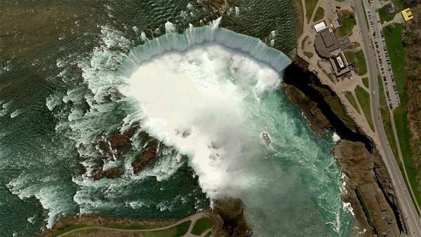 Niagara falls, border of USA and Canada