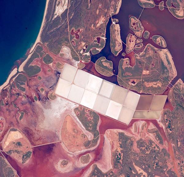 Соляные пруды западной Австралии