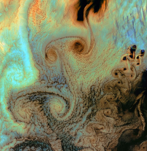 The vortices background of the Pocket, Aleutian Islands